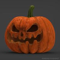 halloween pumpkin realistic 3d obj