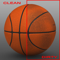 basket ball orange 3d 3ds