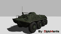 btr-60 vehicle soviet obj