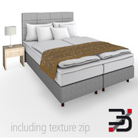 3d model of bedroom bed furniture