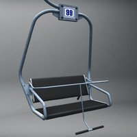 ski lift chair 3d model