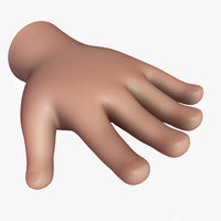 cartoon hand v01 obj