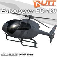 3d model eurocopter d-hvip