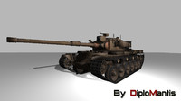 olifant mk 1a battle tank 3d 3ds