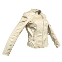 3d champagne leather jacket