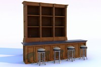 maya counter bar table