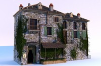 european village house building 3d max