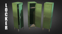 3d model of metal locker