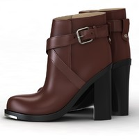 3d model winter shoe brown