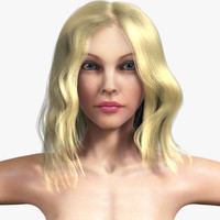 realistic anatomy hair 3d model