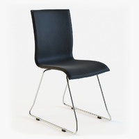 chaise design noire 3d model