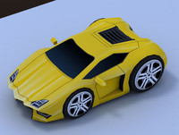 maya cartoon sport car