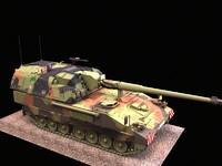 pzh2000 tank artillery 3d model