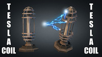 3d tesla coil tower model