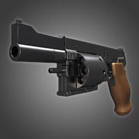 3d mateba mtr-8 revolver model