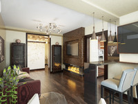 interior apartment modern 3d model