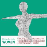 3d base mesh women model