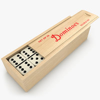 3d realistic dominoes box set