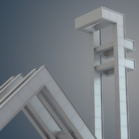 3d model of seul university gate