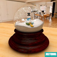 3d glass snow model