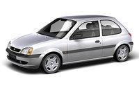 fiesta 2000 mk5 3d model
