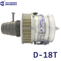 3d model of d-18t turbofan engine