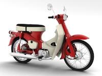 honda c50 cub 1967 3d max