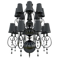 3d model of black chandelier