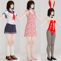 max t-pose girl mariko various