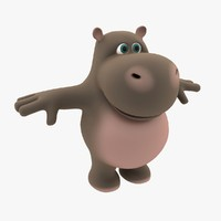 Cartoon Hippo 2