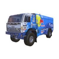 3d kamaz dakar rally model