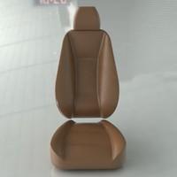 generic car seat 3d obj