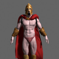 spartan warrior 3d max