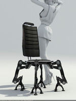 chair steel 3d model