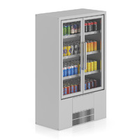 supermarket fridge canned drinks 3d obj