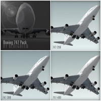 3ds max boeing 747 pack