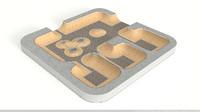 skate park ramps 3d model