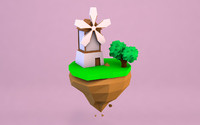 3d model windmill mill