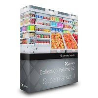 CGAXIS MODELS VOLUME 52 3D SUPERMARKET II