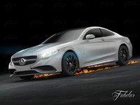 3d model mercedes s63 amg coupè
