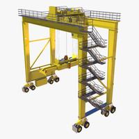 3d model harbour crane
