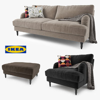 3d model ikea stocksund series sofa chair