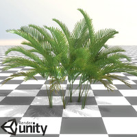 Low poly jungle plant 02