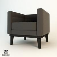 eichholtz corbusier armchair 3d max