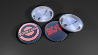 3d model button badges