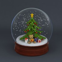 snowglobe snow globe 3d model