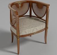 3d chair italian furniture