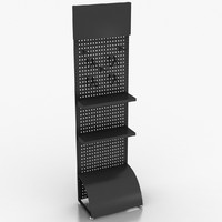 pegboard rack 3d 3ds
