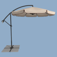 3d patio umbrella model