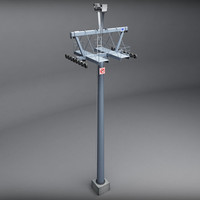ski lift pole 3d 3ds